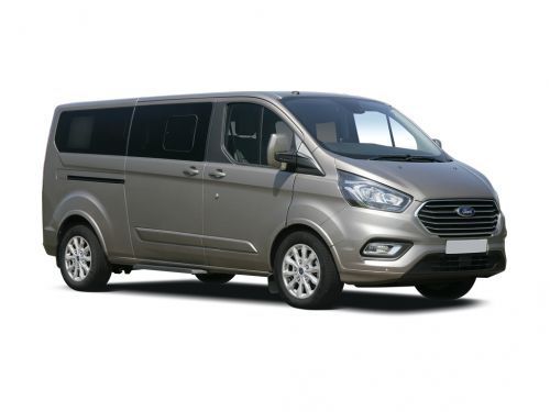 ford tourneo custom l2 diesel fwd 2.0 ecoblue hybrid 185ps l/r 8 seater titanium x 2019 front three quarter
