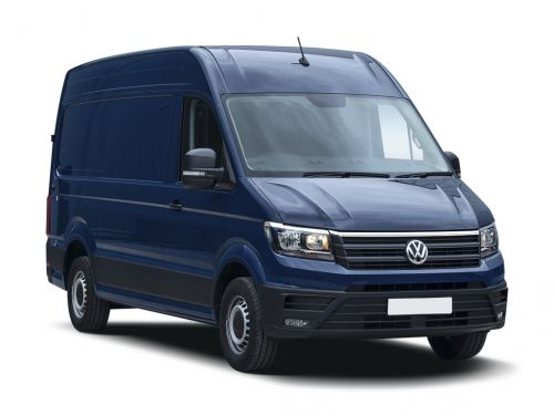 volkswagen crafter cr35 mwb diesel rwd 2.0 tdi 177ps trendline high roof van 2018 front three quarter