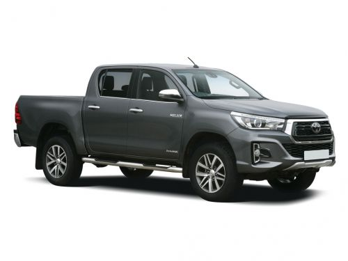 toyota hilux diesel invincible d/cab pick up 2.4 d-4d auto [3.5t tow] 2018 front three quarter