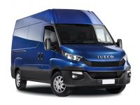 iveco daily 35c15 diesel 3.0 high roof semi-window crew van 3520l wb 2014 front three quarter